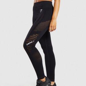 Gymshark Flawless Knit Leggings Black Size Small